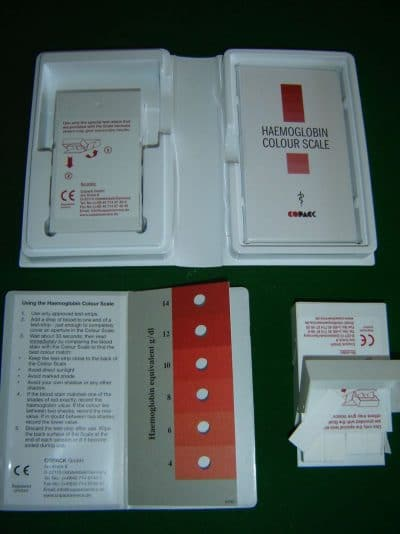 Haemoglobin colour scale – Anemia test KIt